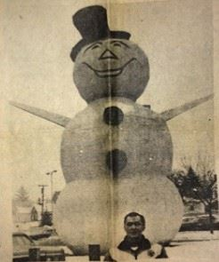 Lloyd with Snowman