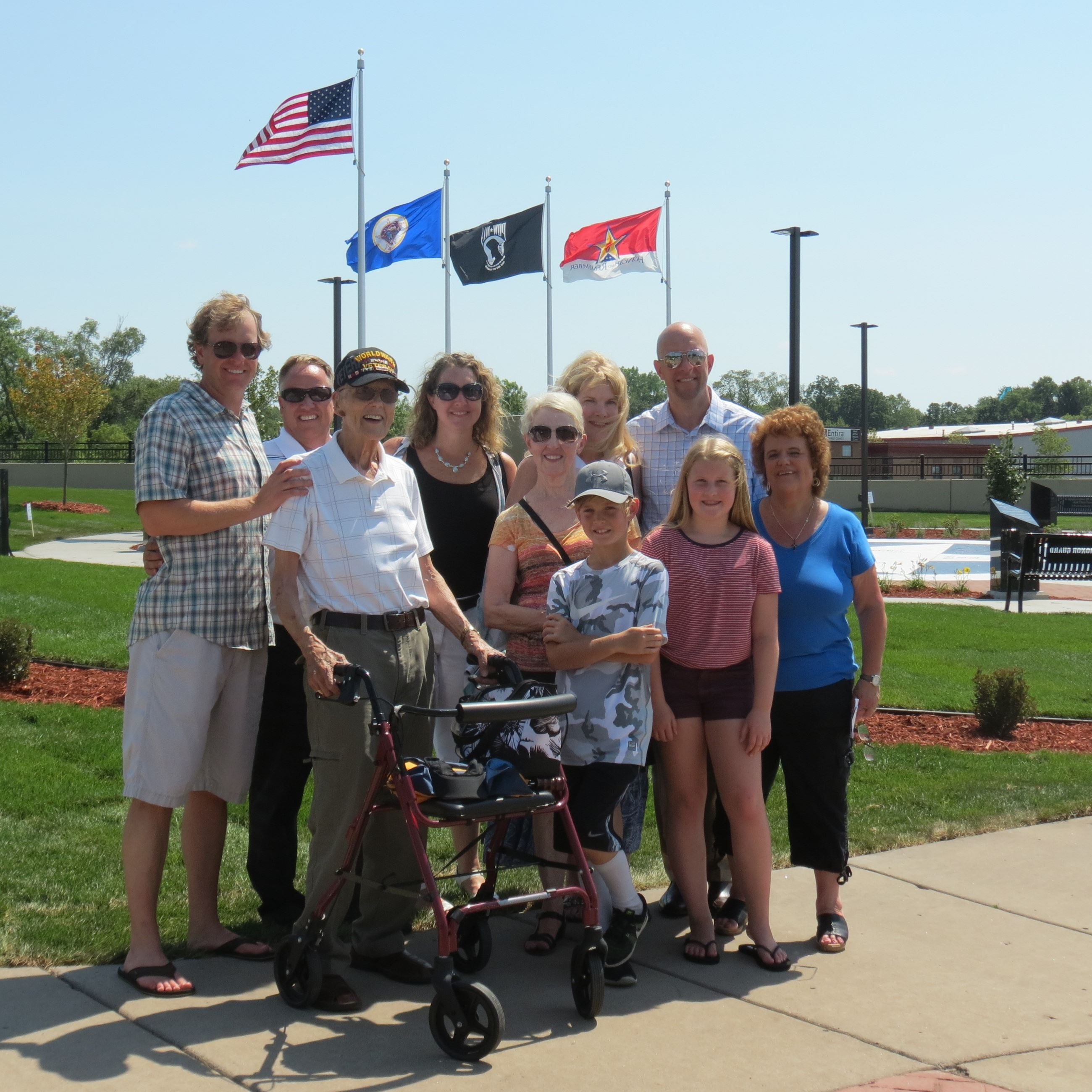 Ellsworth Erickson & Family - Ellsworth a WWII Air Corps Veteran, envisioned a memorial