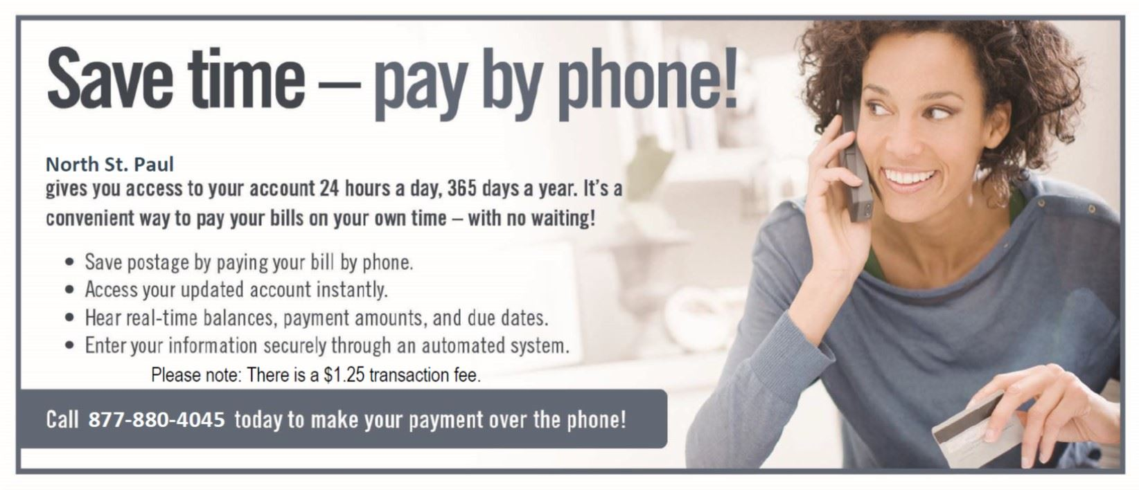Save time pay by phone