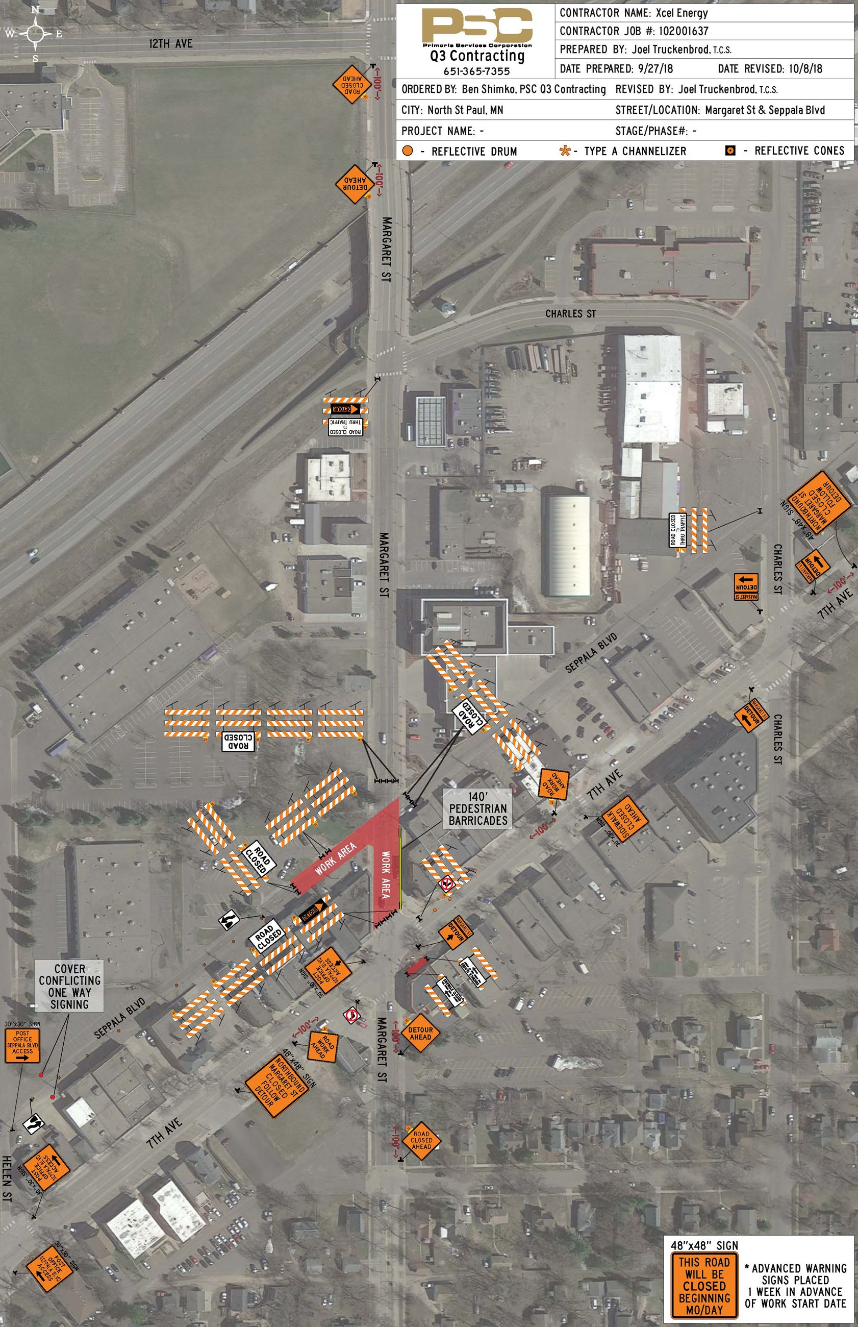 Xcel Energy - Margaret St Seppala Blvd Project Map